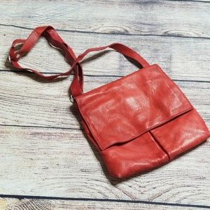 Red Italian leather purse